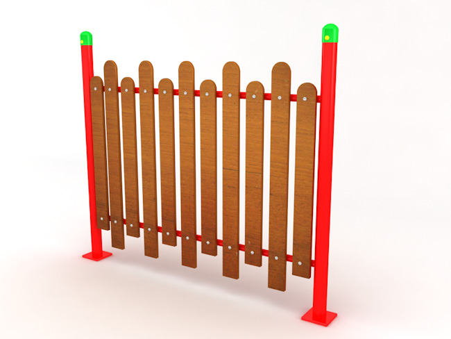 Ограда-–-дърво-метал-лукс